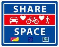 """Schild """"Shared Space"""""""