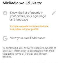 MixRadio will Daten Dritter abgreifen