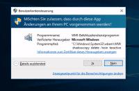 Trojaner-Alarm: Der Versuch Schattendateien zu löschen erzeugt eine Sicherheitsnachfrage, die man ablehnen sollte.