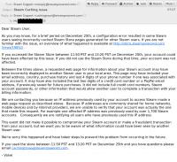 Die von Valve verschickte Mail erklärt die Ausmaße der Datenpanne.