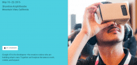 Auf der I/O-Homepage sind noch die Pappbrillen zu sehen, aber angeblich hat Google eine hochwertigere VR-Brille in petto.