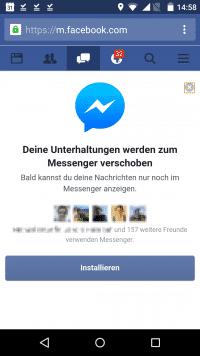 Facebook drängelt Nutzer noch stärker in Richtung Messenger