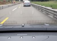 Ein getarnter BMW im Windschatten. Kann ein E-Auto beim Stromsparen sein, vielleicht schaut sich der Fahrer aber auch einfach nur gerne LKW aus der nähe an.