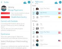 Spieler können Profilfotos hochladen, ihr Land anzeigen und Freunde besser in den Listen erkennen.