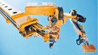 Kollege Roboter von der Baustelle