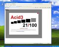 IE8 mit Acid3-Test