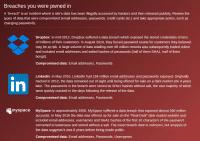 """""""Have I been pwned"""" erklärt auch, in welchem Kontext eine Mail-Adresse und das zugehörige Passwort aufgetaucht ist."""