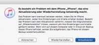 Fehlermeldung in iTunes