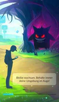 Der neue Ladebildschirm von Pokémon Go weist auf das Halloween-Event hin.