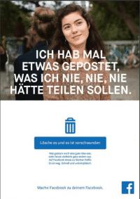 Mit Werbeplakaten wie diesem versucht Facebook Vertrauen zu gewinnen.