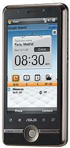 Das P835 von Asus kommt noch mit der Version 6.1 von Windows Mobile.