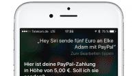 Siri spricht mit Paypal