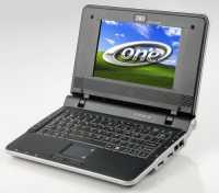 Das Mini-Notebook A120 von One kostet nur 279 Euro; Windows XP Home Edition sitzt in einem 4 GByte großen Flashspeicher.