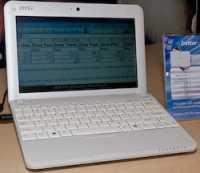 MSI Wind: Große Tasten, weil die Tastatur die gesamte Gehäusebreite nutzt