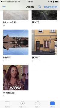 Auch WhatsApp nutzt nun die Alben in der iOS-Fotos-App, um Bilder und Videos gesammelt zu speichern.