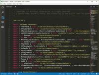 In der Minimap auf der rechten Seite ist der Code zwar nicht lesbar, aber markante Stellen lassen sich erkennen.