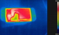 Im Dock-Modus hat c't bei der Swtich stationär 45 °C gemessen.