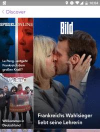 In der Snapchat-App gibt es ab sofort auch Clips von deutschsprachige Medienangeboten. Mit dabei sind Spiegel Online, Vice, Bild und Sky Sport.