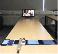Gegenlauschangriff: Mobiltelefone vorm TV abgehört.