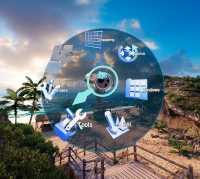 Das Radialmenü für den VR-Modus bietet den Zugang zu den Editorfunktionen.