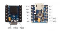 Pico Mikrocontroller von vorn und hinten