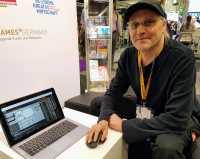 Zeigte auf der Gamescom eine frühe Browser-Version von Oxyd: Entwickler Meinolf Amekudzi (geb. Schneider).