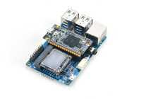 Das Mini-Shield macht aus dem Duo einen fast gewöhnlichen Einplatinenrechner – mit Steckplatz für eine mSATA SSD.