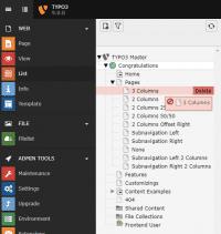 Die überarbeiteten Admin-Tools sind direkt in das TYPO3-Backend integriert. Der neue Seitenbaum nutzt jetzt SVG.