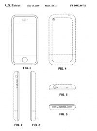 Smartphone-Gehäuse mit abgerundeten Ecken –eines von Apples Geschmacksmustern.