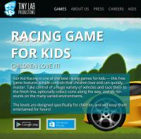 "Screenshot ""RACING GAME FOR KIDS"""