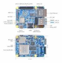 Übersicht der Anschlüsse des NanoPi Neo4