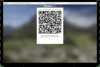 Per QR-Code erfolgt die Koppelung mit dem Browser, ein Sitzungspasswort kann ebenfalls vergeben werden.