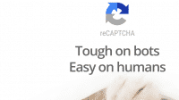 "Katze, darüber ""reCpatcha - Tough on bots - Easy on humans"""