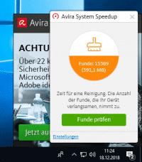 Gratis-Schutz hat seinen Preis: Bei Avira muss man Werbung in Kauf nehmen.