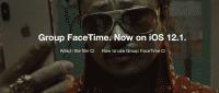 Werbung für die FaceTime-Gruppenfunktion entfernte Apple von seiner iPhone-Seite.