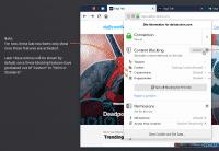 Entwurf der Firefox Dialoge mit neuem Inhaltsblocker