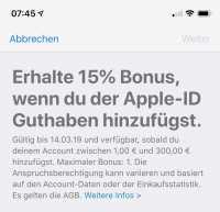 Das Guthaben lässt sich direkt auf dem iPhone aufladen –über den eigenen Apple-ID-Account.