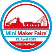 Logo Mini Maker Faire Rhein-Waal am 13. April 2019.