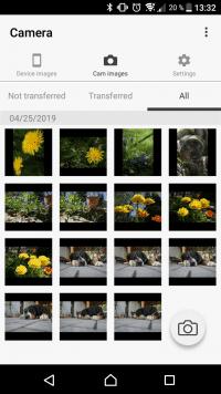 """Die Ricoh-App """"Image Sync"""" verbindet Smartphone und Kamera..."""