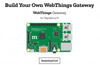 WebThings Gateway läuft auf einem RaspberryPi 3 und dient als Steuerzentrale für WoT-Geräte.