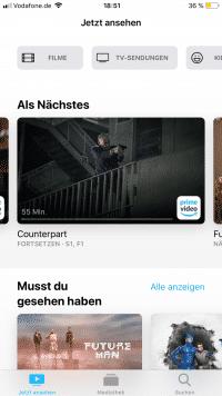 Apples neue TV-App bietet Abo-Kanäle an und will bessere Empfehlungen geben.