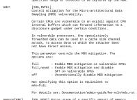 Über den neuen Kernel-Parameter mds= kann man festlegen, wie stark der Schutz greifen soll.