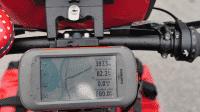 GPS-Gerät am Fahrrad
