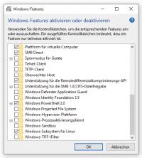 """Um die Neuauflage des Windows Subsystem für Linux ausprobieren zu können, muss """"Plattform für virtuelle Computer"""" aktiv sein."""