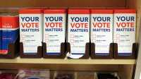"Schokolade ""Your Vote Matters"", ankreuzbar sind Donald Trump oder Hillary Clinton"
