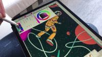 Adobe Fresco unterstützt Ebenen und verschiedene Pinselwerkzeuge, beispielsweise Wasserfarben.