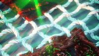 Dynamisches druckbares Material reagiert auf Licht