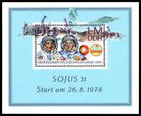 "DDR-Briefmarke ""Sojus 31"""