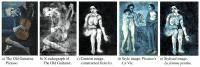 Neuronales Netz macht übermaltes Picasso-Bild sichtbar
