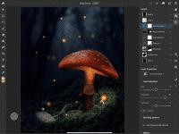 Photoshop für iPad überträgt Ebenen, Masken und Einstellungsebenen in eine Touch-optimierte Umgebung.